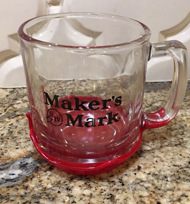 Makers Mark Whisky Glass Wax Dipped Coffee Mug Cup  | eBay