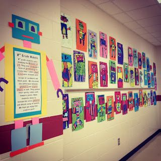 robots classroom decoration!