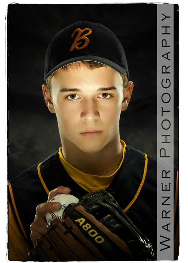 senior photography baseball  love the light on his face.