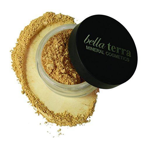 Bella Terra Cosmetics Mineral Foundation, Honey, 8g >>> Details can be found by clicking on the image.