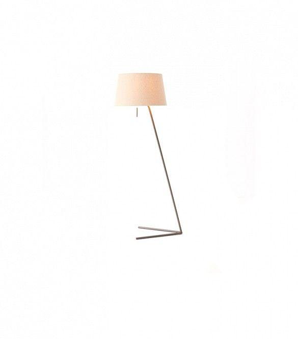 The Best Floor Lamps Under $200 via @domainehome West Elm Petite Shade Floor Lamp ($199)