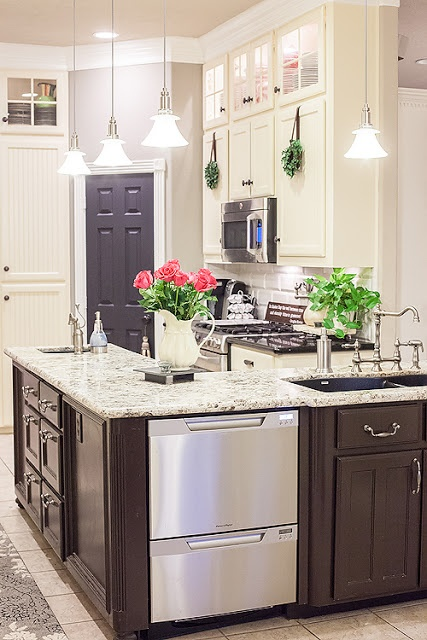 17 Best images about white upper dark lower cabinets on