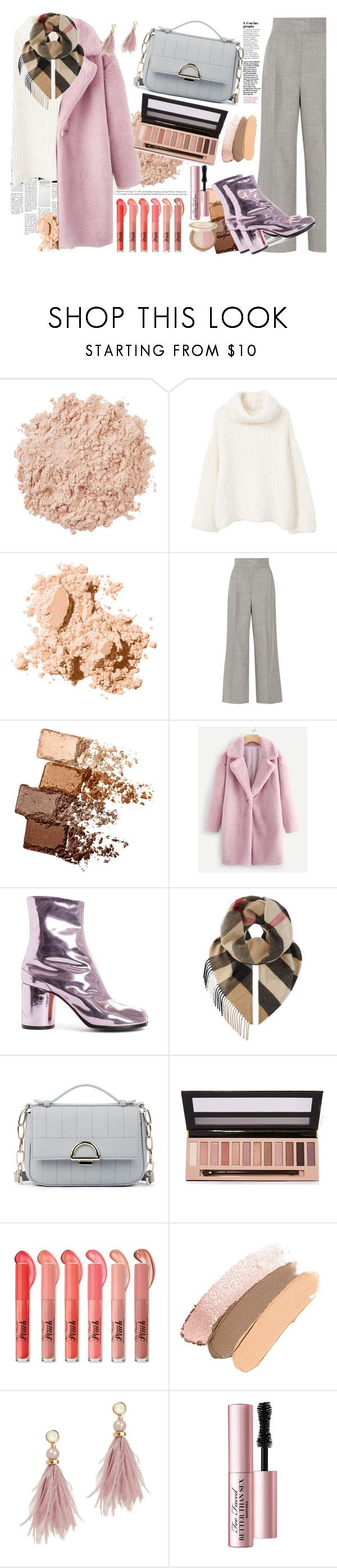 """Chic in Winter"" by aletraghetti on Polyvore featuring moda, La Mer, MANGO, Bobbi Brown Cosmetics, Barbara Casasola, Maybelline, Maison Margiela, Burberry, Sole Society y L.A. Girl"