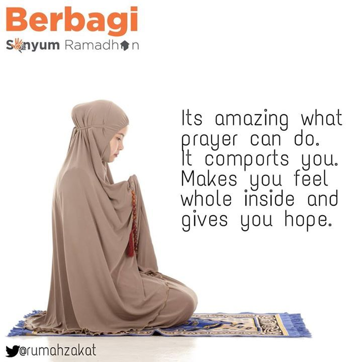 Prayer comport you and give you hope