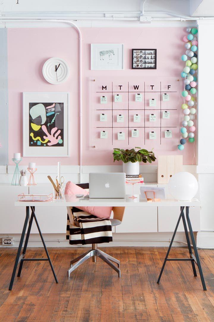 5 claves decorar oficina en casa http://stylelovely.com/noticias-moda/5-claves-decorar-oficina-casa/