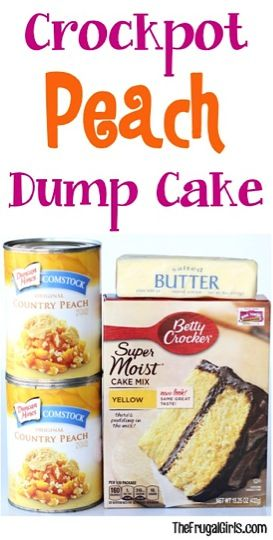 Crockpot Peach Dump Cake Recipe