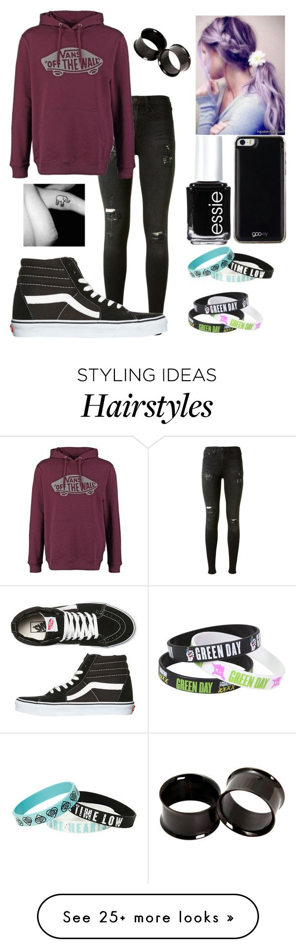 """Untitled #154"" by lexielou211 on Polyvore featuring rag & bone, Vans, Gooey and Essie"