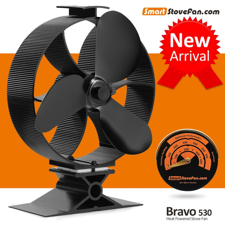 New Launched Circulate Heat 300 Cubic Feet / Minute Heat Powered Stove Fan Eco fan Wood Stove Fan with Stove Thermometer