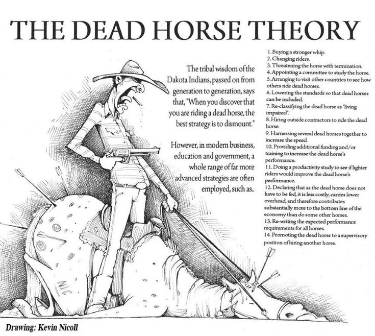 The Dead Horse Theory of Management - Leading with Lean by Philip J. Holt