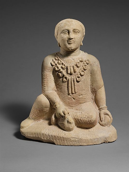 Limestone temple boy  Period:     Classical Date:     late 5th century B.C. Culture:     Cypriot