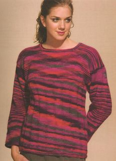 """""""Easy Living Pullover"""" Desinged by Doreen L. Marquart. Knit with """"Texas"""" from Interlacements."""