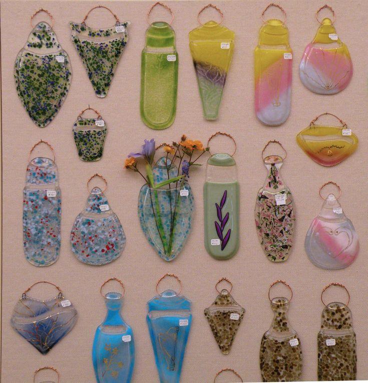 steider studios wall pocket vases