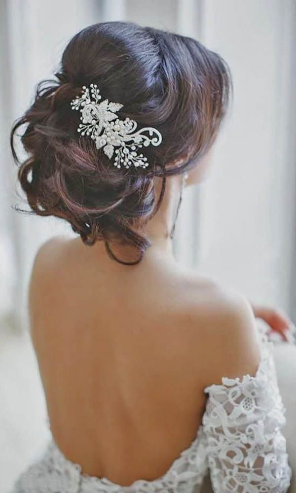 Wedding Hair With Flowers Jewels 30 Hairstyles Romantic Bridal Updos