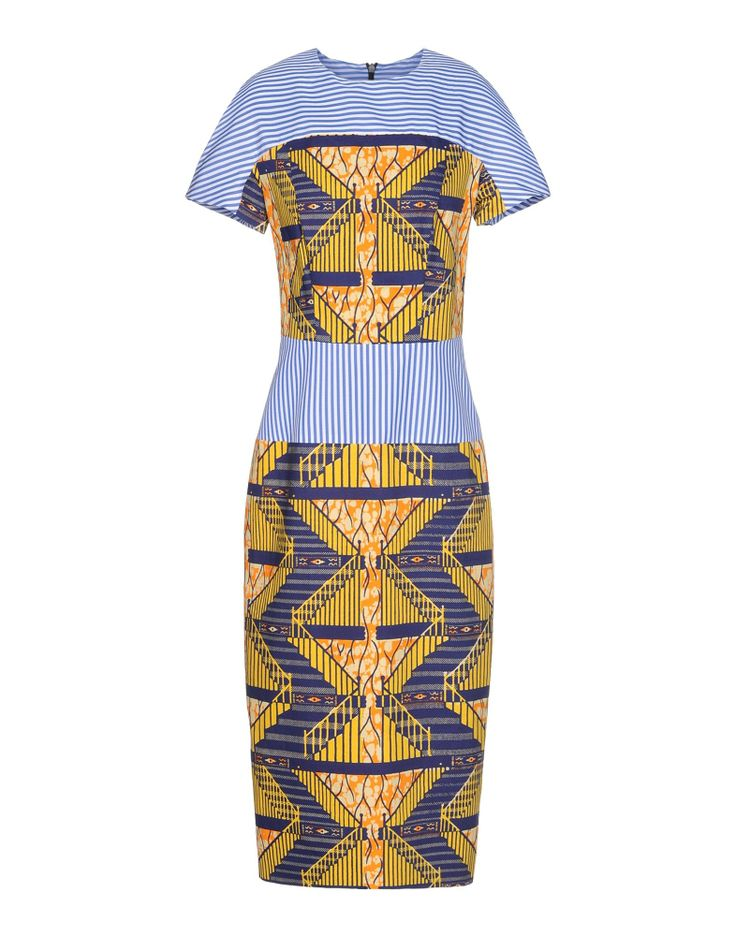Stella Jean Graphic Print Dress - Short Sleeve Dress - ShopBAZAAR