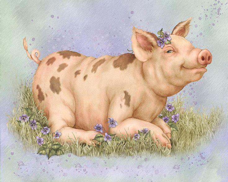 картинки для декупажа свиньи новогодние или найти