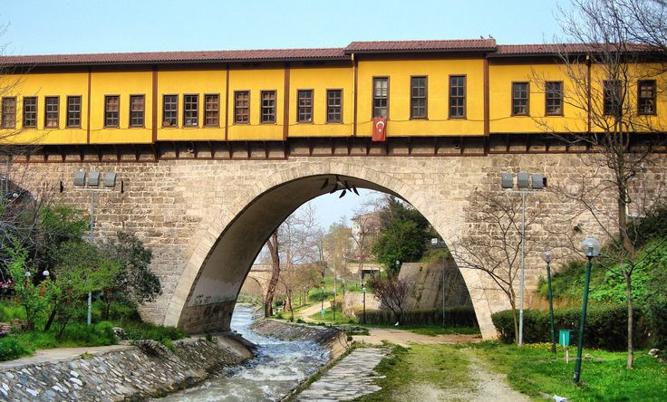 Irgandi Bridge   Bursa, Turkey     The bridge is one of the four bridges with a bazaar and is the oldest among them and it's not just a bridge for passing it's also a bridge for culture and art.