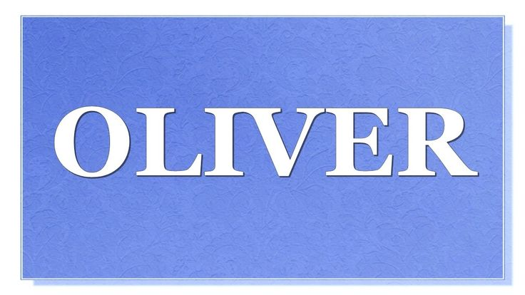 Meaning of the name Oliver. What is the meaning of the name Oliver? What are lucky colors for Oliver? What are lucky days for Oliver? What are lucky professions for Oliver? How special is Oliver? You will find answers to these questions in this movie. We collected the fun facts about the name Oliver.