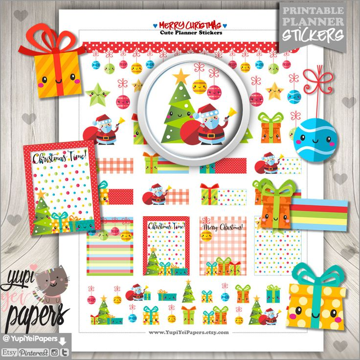50%OFF - Christmas Stickers, Planner Stickers, Cute Stickers, Christmas Planner, Planner Accessories, Christmas Time, Christmas Tree