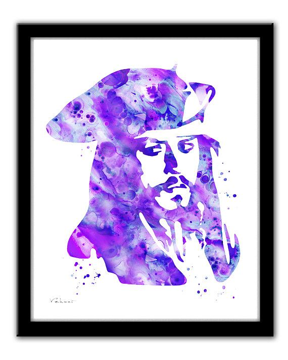 Jack Sparrow art print Jack Sparrow painting print Pirates