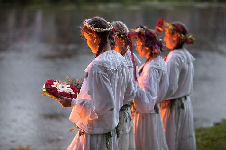Noc Świętojańska (other names: Sobótka/Sobótki, Noc Kupały, Kupalnocka) - summer solstice celebrations in Włocławek, Poland, photographed by Mariusz Maciejewski.