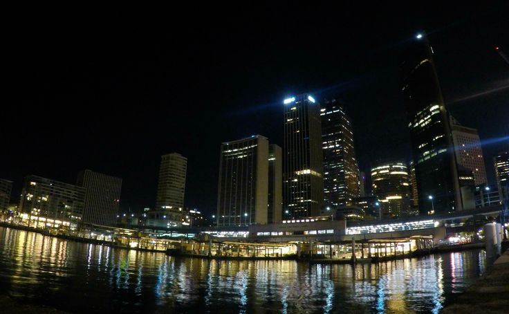 Circular Quay at night. Sydney.