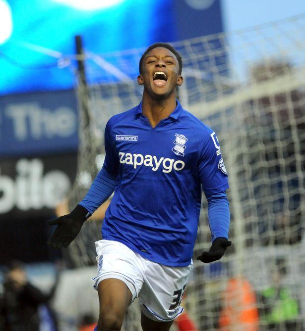 Demarai Gray celebrates his third goal