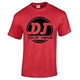 Amazon Angebot Musik Herren Personalisiertes DJ Logo FÜGE DEINEN NAMEN EIN Musik T-ShirtIhr QuickBerater