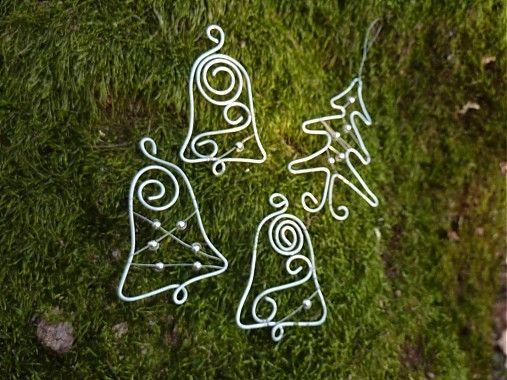 astra / sada 4 ks vianočných ozdôb