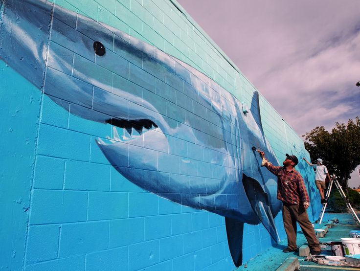 International artists picked up their paintbrushes yesterday, and set to work transforming walls around Napier for the Sea Walls: Murals for Oceans festival. - Hawke's Bay Today