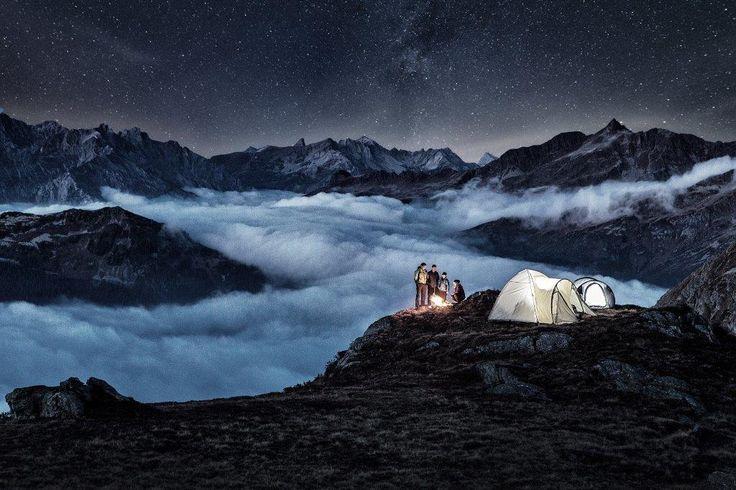 Alpines Campen. Sternstunden unter freiem Himmel