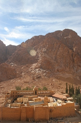 St. Catherine's Monastery at the foot of Mount Sinai where Moses received the 10 Commandments