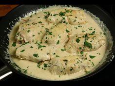 Kylling i pikant flødeoste sauce - følg denne lækre opskrift