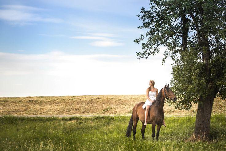 Portraitfotos mit Pferd mit Lovisa Simona und Solero in Weinheim