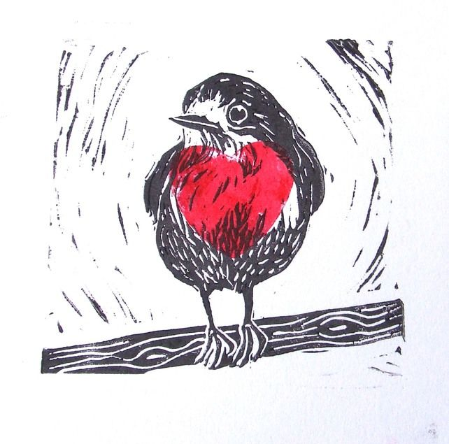 1-Heart shape printed within the bird print. Gives the idea of printing other shapes within a bird print