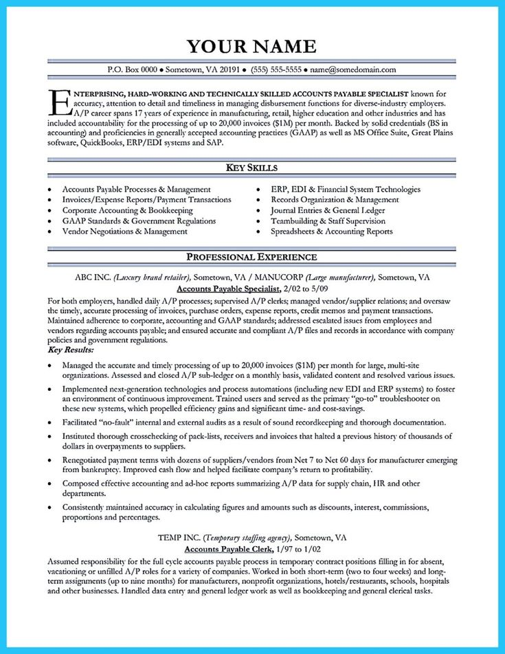 cool Best Account Payable Resume Sample Collections, Check more at http://snefci.org/best-account-payable-resume-sample-collections