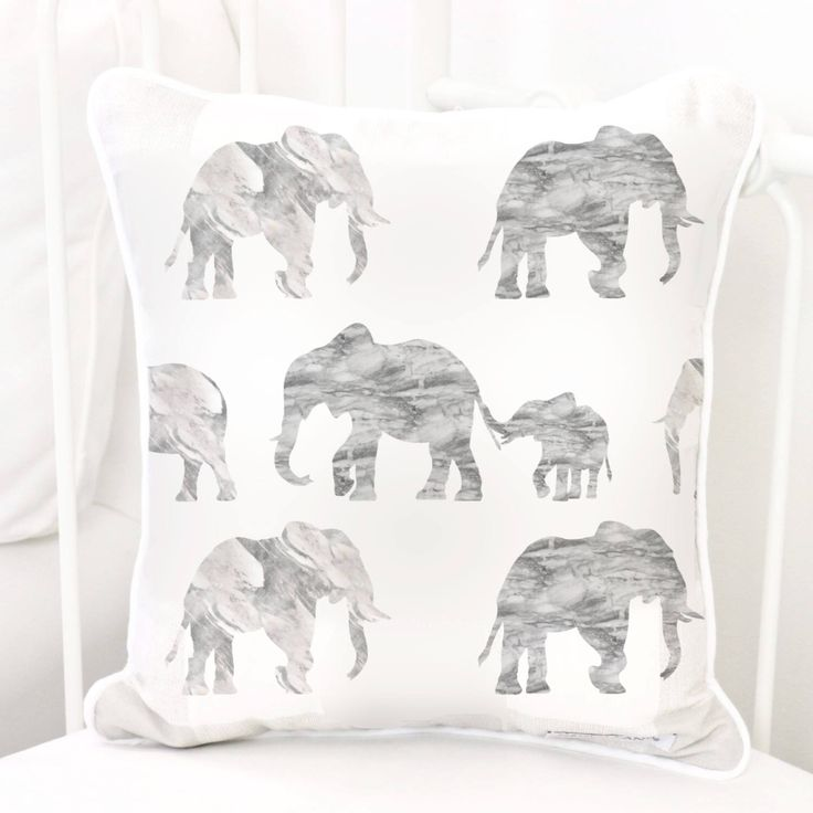 Gray Marble Elephant Parade Square Pillow   Grey, White, Marble, Elephants, Modern, Gender Neutral, Baby Glider Nursery Pillow by CadenLaneBabyBedding on Etsy https://www.etsy.com/listing/535667961/gray-marble-elephant-parade-square