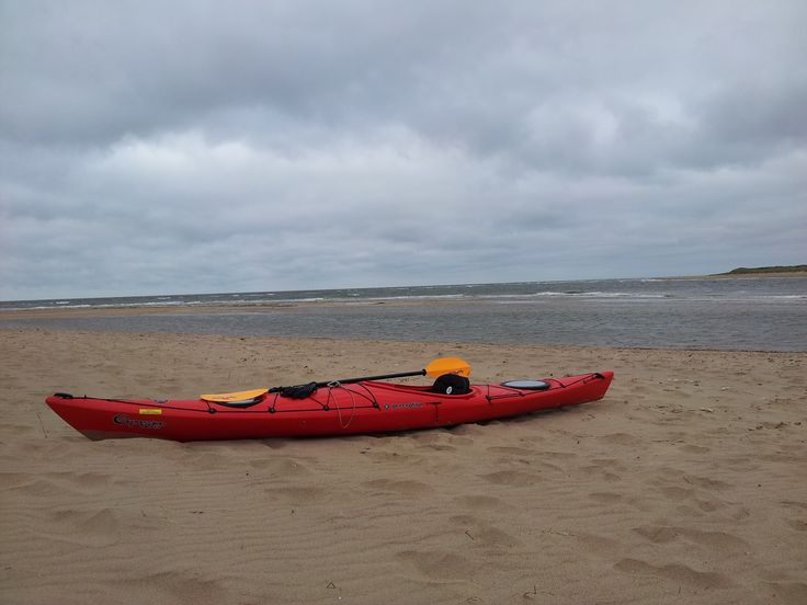 Beached; Kyaking out to Scolt Head Island.