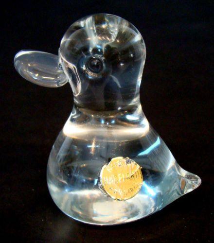 Vintage Hadeland Norway Art Glass Paperweight Duck Mid Century Danish Modern | eBay