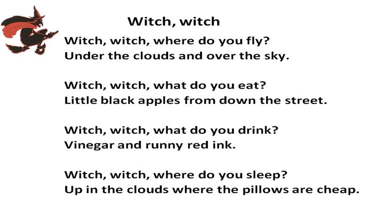 """This poem displays a good example of repetition. """"Witch"""" is repeated throughout the entire poem. Image from bing.com/images."""