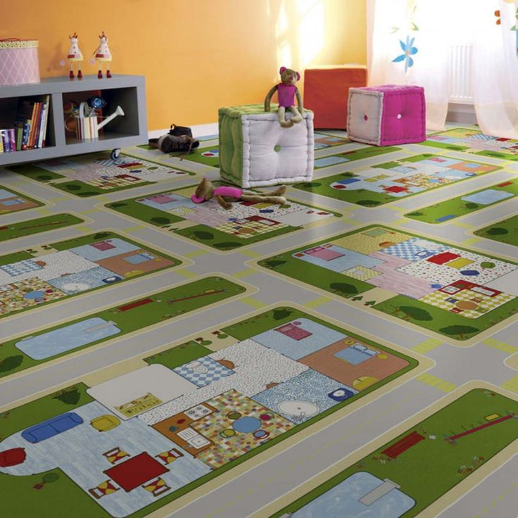 Our 1605 Road Multicoloured Vinyl Flooring features a design of a road tracks with homes; your kid would love to travel and discover them. This vinyl sheet flooring is a safe option for your kids bedroom, playroom or bathrooms as it has R10 rating slip resistance, thermal resistance to underfloor heating and resistance to various household chemicals.