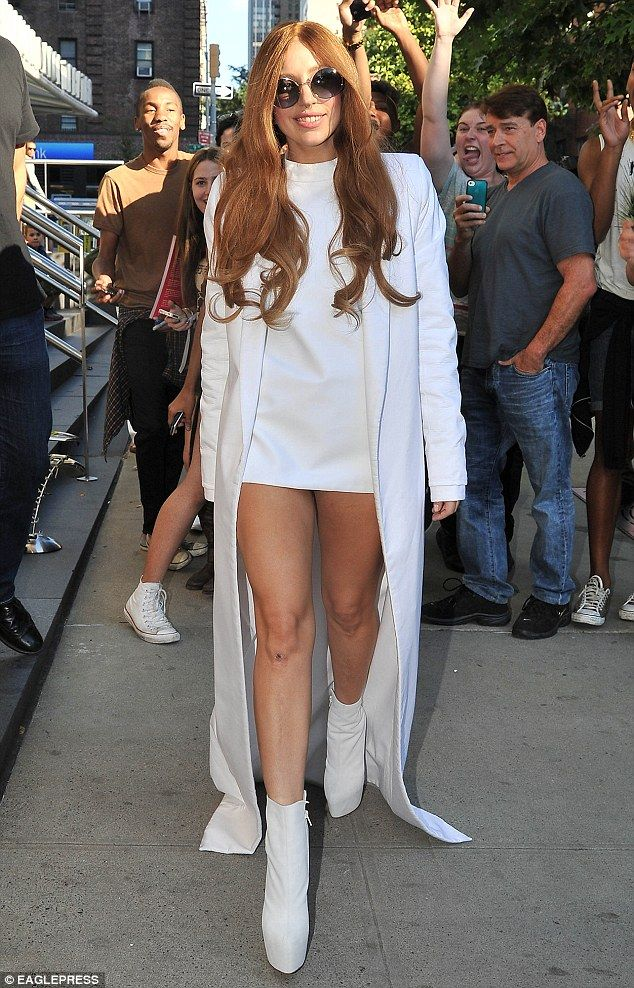 During Confirmation, we wear white again, to symbolize purity. Here is a picture of Gaga showing of her purity!
