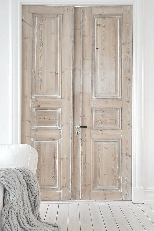 Her Office ~ Whitewash Reclaimed Doors color of doors