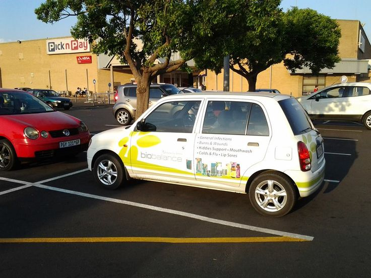 Jacolette out and about in her Biobalance branded car...
