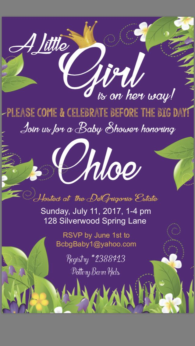 Baby Girl baby shower invite. Nisi creative