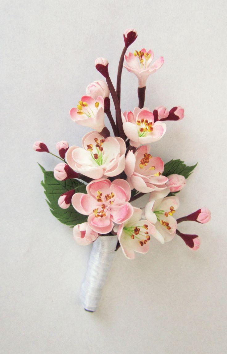 Cherry blossom boutonniere. Sakura bouttonniere.  Made to order/ handmade. https://www.etsy.com/ru/shop/FlowersofSharon