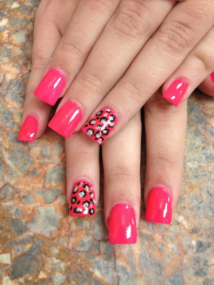 Hand-painting/ modifying stamped spots on 10 nails prob would never happen, but two.... yes!