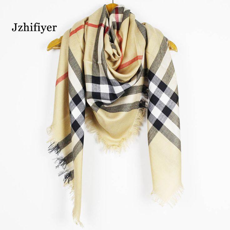 jzhifiyer YX180 220g 5pcs/lot Designer Viscose Acrylic Plaid Winter Ladies Tassel Square Luxury Brand Scarf Women Bandana Shawl