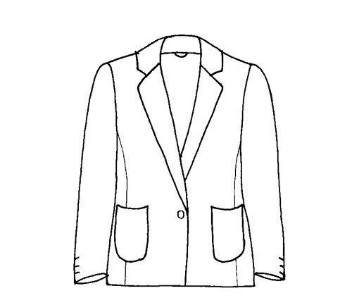 Line Drawing Jacket : Maugham ladies jacket line drawing eloise grey