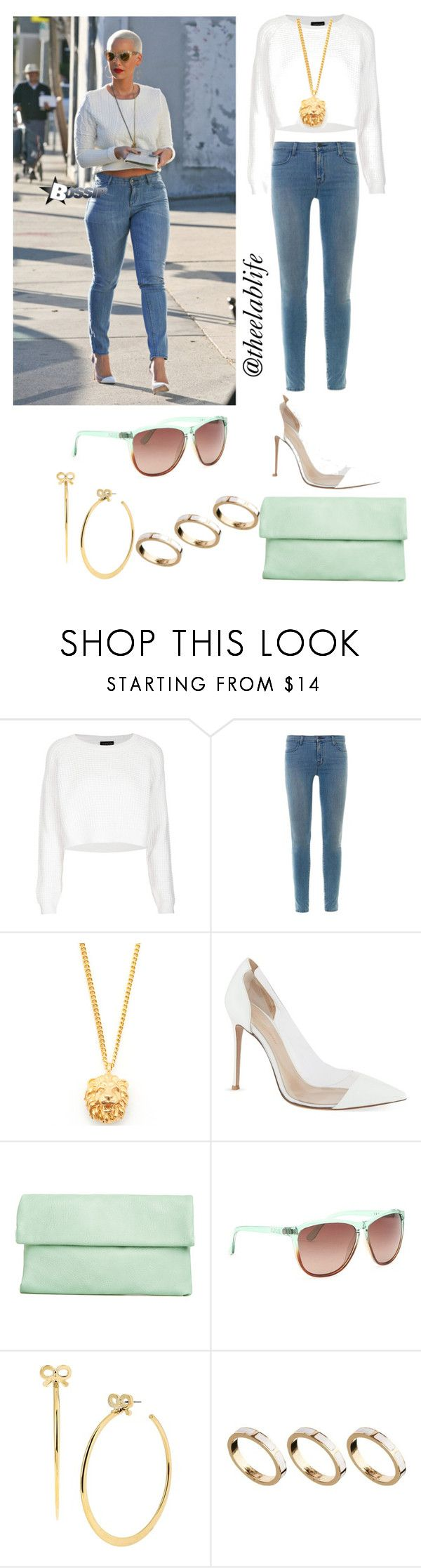 Mint by theelablife on Polyvore featuring Topshop, J Brand, Gianvito Rossi, ASOS, Bill Skinner, Betsey Johnson and Electric