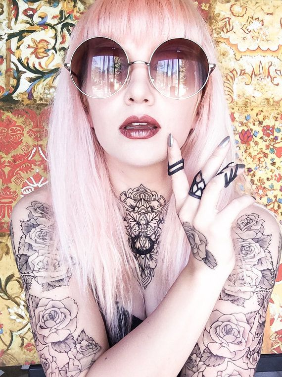 These tattoos are the PERFECT accessory to complete a look. They can be placed anywhere, and wear exceptionally well. One set consists of the